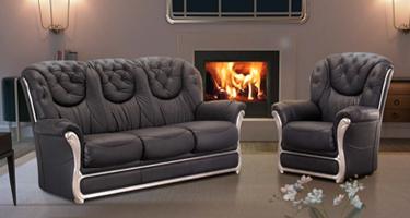 G & G Italia Star Leather Sofas