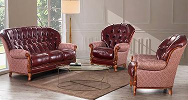 G & G Italia York Leather Sofas