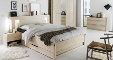Gami Siena Whitewash Pine Bedroom