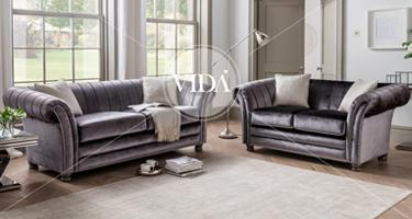 Vida Living Giselle Charcoal Sofa