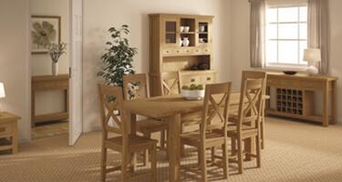 Global Home Bergerac Oak Dining Room