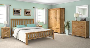 Global Home New Trinity Oak Bedroom