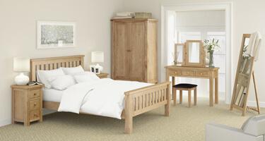 Global Home Troy Oak Bedroom