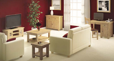Global Home Troy Oak Living Room