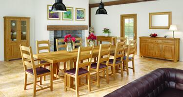 Global Home Vintage Oak Dining Room