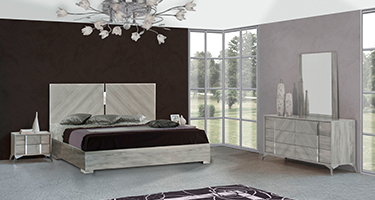 H2O Design Alysha Light Grey Italian Bedroom