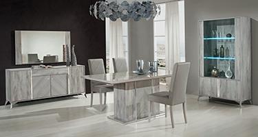 H2O Design Alexa Light Grey Italian Dining Room