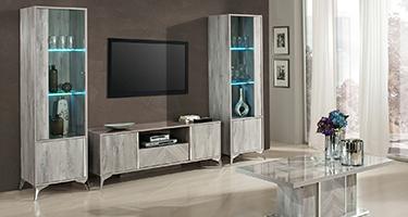 H2O Design Alexa Light Grey Italian Living Room