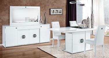 H2O Design Athen White Italian Dining Room