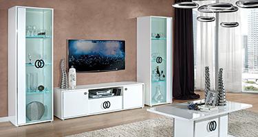 H2O Design Athen White Italian Living Room