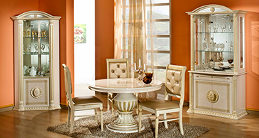 H2O Design Rossella Beige and Gold Italian Dining Room