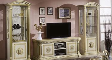 H2O Design Rossella Beige and Gold Italian Living Room