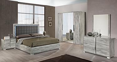 H2O Design Serena Light Grey Italian Bedroom