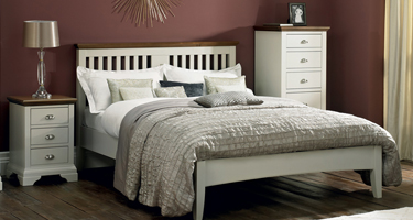 Bentley Designs Hampstead Soft Grey and Walnut Bedroom