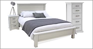 Vida Living Harlow White Bedroom