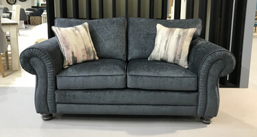 Vida Living Hollins Charcoal Fabric Sofa