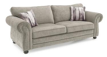 Vida Living Hollins Mink Fabric Sofa