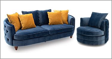 Vida Living Jools Blue Sofa