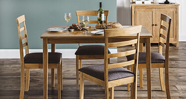 Julian Bowen Cleo Natural Oak Dining Room