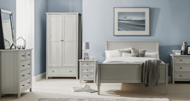 Julian Bowen Maine Dove Grey Bedroom