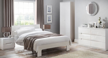 Julian Bowen Manhattan White High Gloss Bedroom