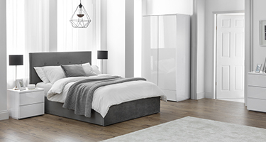 Julian Bowen Monaco White High Gloss Bedroom
