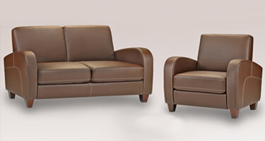 Julian Bowen Vivo Chestnut Brown Leather Sofas