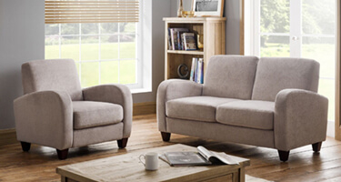 Julian Bowen Vivo Mink Fabric Sofas