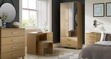 KT Furniture Deco Oak Bedroom