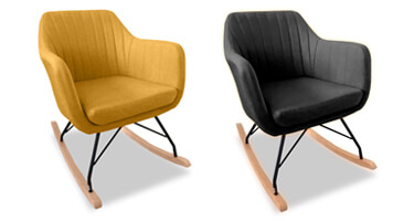 Vida Living Katell Fabric Rocking Chair