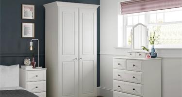 Kingstown Nicole White Bedroom