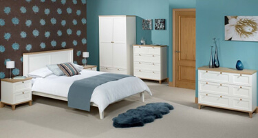 LPD Boston White and Ash Bedroom