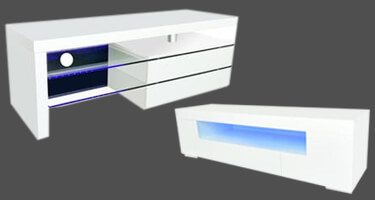 LPD Milano White High Gloss LED Collection