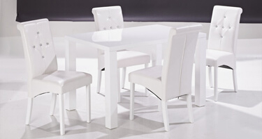 LPD Monroe White High Gloss Dining Room