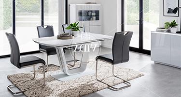 Lazzaro Light Grey Dining Room