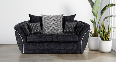 Lebus Izzy Black Fabric Sofas