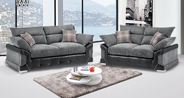 Mogan Fabric and Leather Sofas