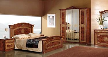 MCS Alexandra Walnut Finish Italian Bedroom