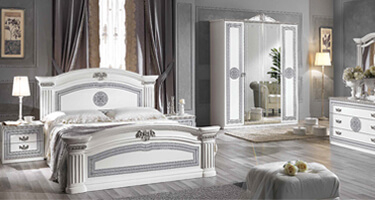 MCS Alexandra White Finish Italian Bedroom
