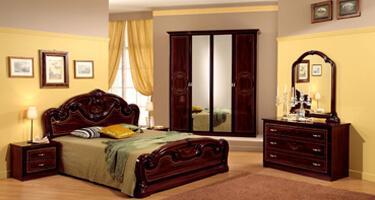 MCS Gioia Mahogany Italian Bedroom