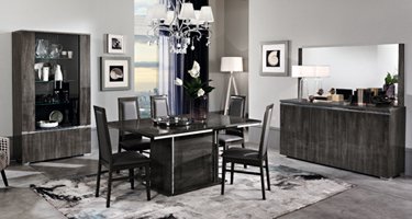 MCS Oxford Grey Dining Room