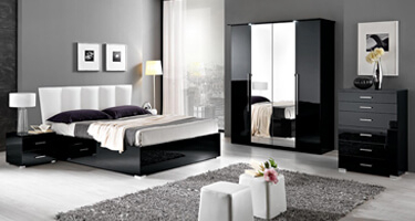 MCS Regent Black Finish Bedroom