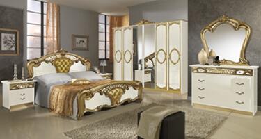 MCS Sara Cream and Golden Italian Bedroom