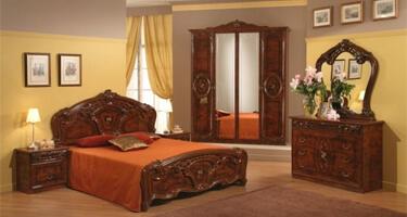 MCS Sara Walnut Italian Bedroom