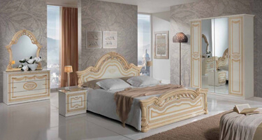 MCS Selene Cream Finish Italian Bedroom