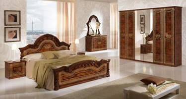 MCS Selene Walnut Finish Italian Bedroom