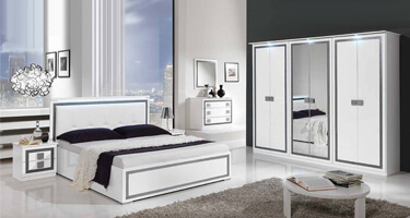 MCS Thema White Finish Italian Bedroom