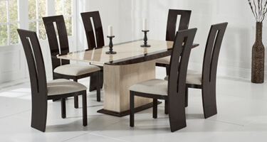 Mark Harris Alba Marble Dining Room