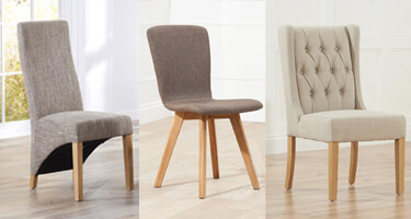 Mark Harris Fabric Dining Chairs