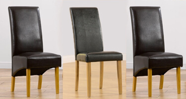 Mark Harris Leather Dining Chairs